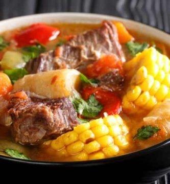 imagen de un plato de puchero paraguayo