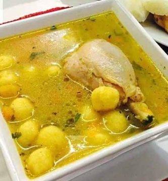 imagen del vori vori de pollo o bori bori