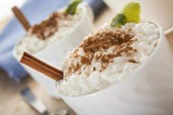 imagen del arroz con leche, arroz con leche paraguayo o kamby arró