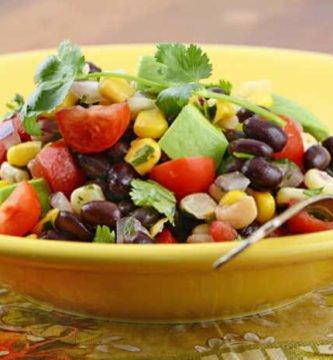 imagen de una ensalada de porotos